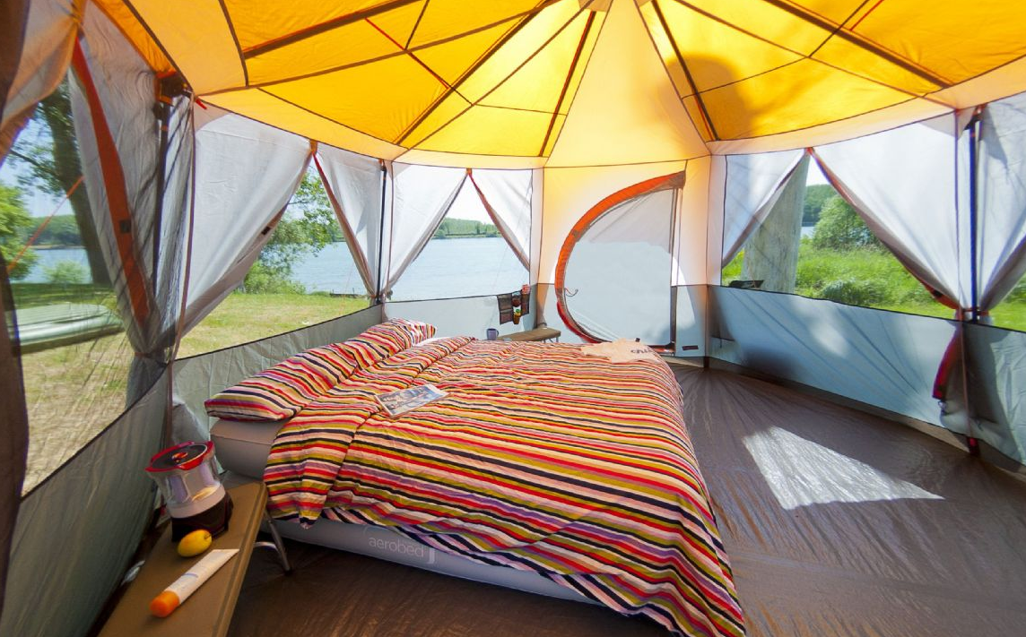 Gl&ing Coleman Cortes Octagon tent - imagine this on a seaside degree views from your windows with a kingsize blowup bed D & Glamping 2015! Coleman Cortes Octagon tent - imagine this on a ...