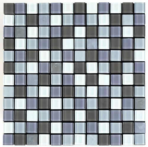 "Best X10 Peel N And Stick Backsplash Tile For Kitchen: Veneziana Valore Peel-N-Stick Glass Mosaic Tiles 1"" X 1"