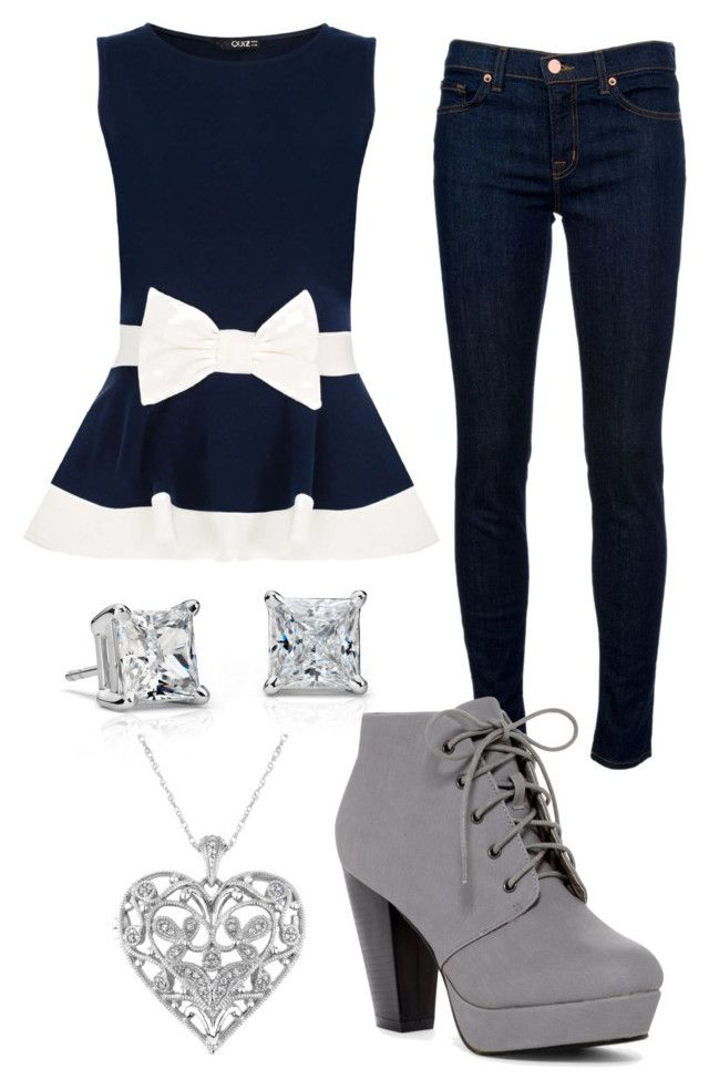 """""""Blue"""" by annawell-1 ❤ liked on Polyvore featuring Blue Nile, Dorothy Perkins, J Brand and Reeds Jewelers"""