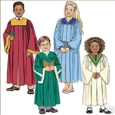 Child CHOIR ROBE Sewing Pattern ~ Christmas Chorus, Graduation ...