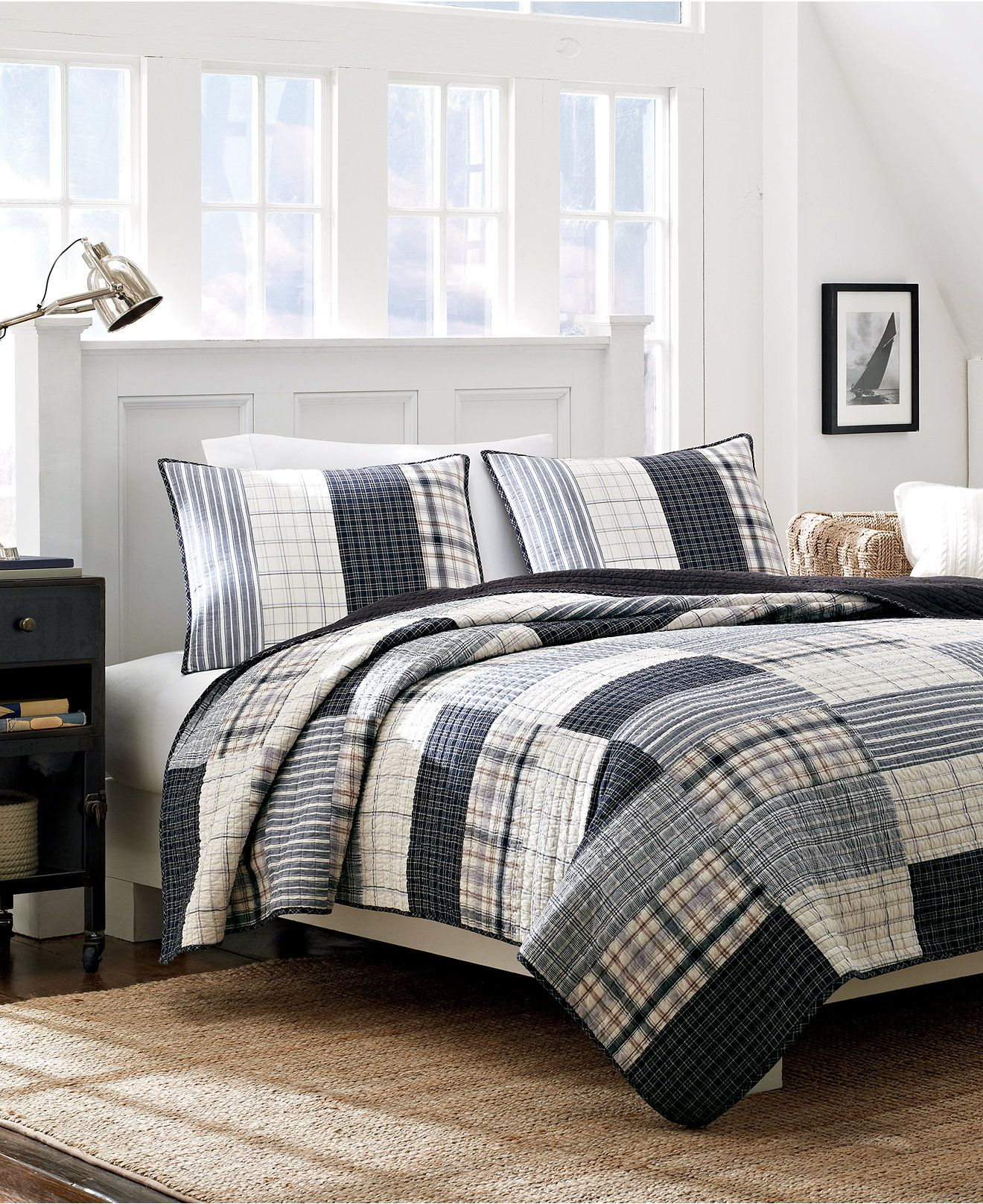 Closeout Nautica Longview Quilt Collection Reviews Quilts Bedspreads Bed Bath Macy S Quilt Comforter Reversible Quilt King Quilt