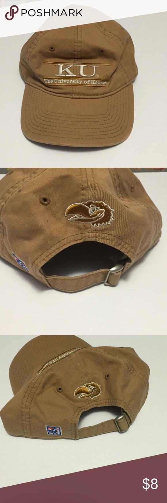University of Kansas Jayhawks Kakahi Ball Hat Univ. of Kansas KU adjustable  hat. Headwear a750416ba34c