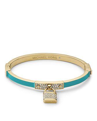 bad5731a94b6b Michael Kors Pave Padlock Hinge Bracelet