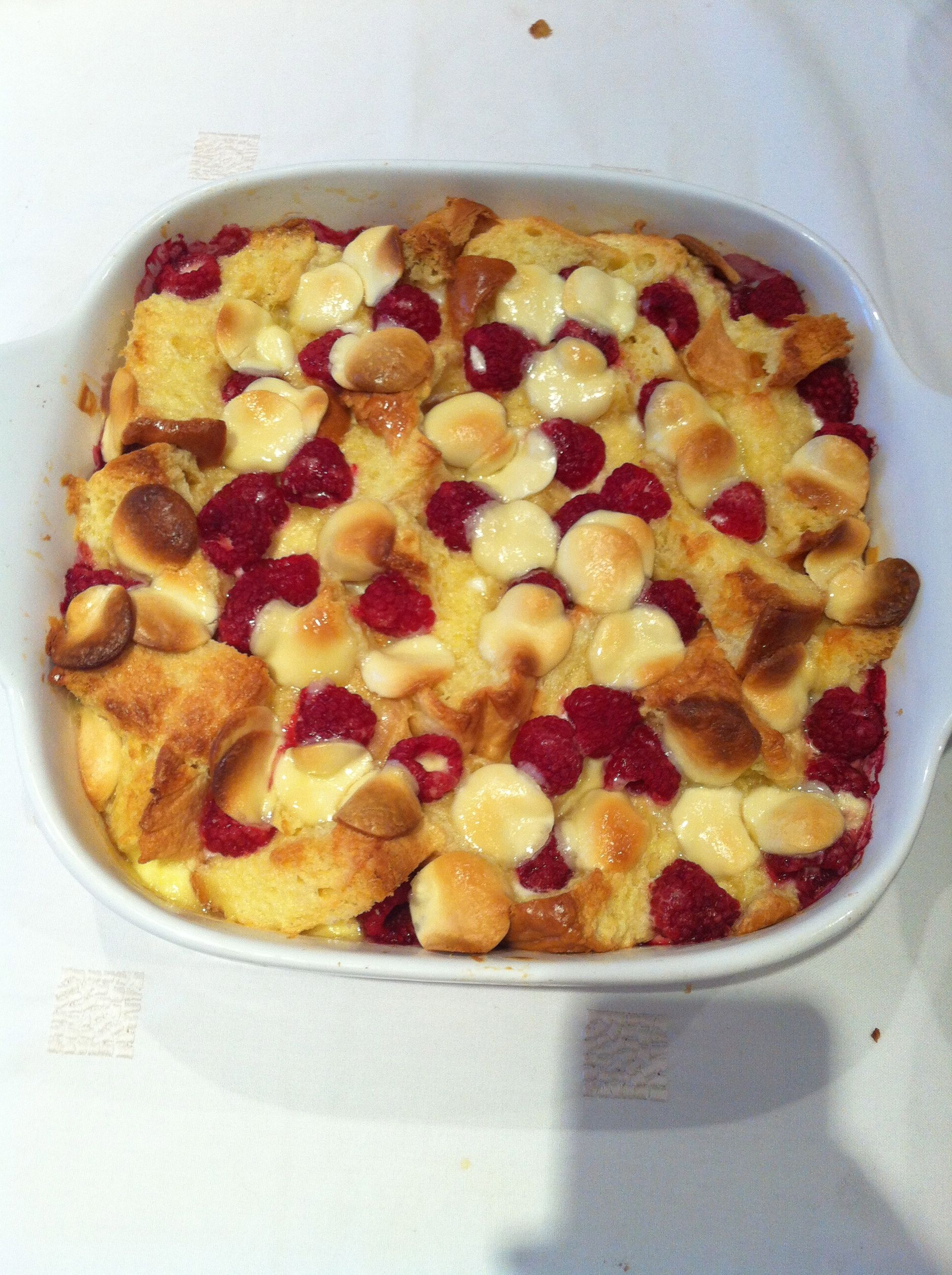 Heart Kitchen White chocolate and raspberry brioche pudding .... by Lucy | Heart Kitchen