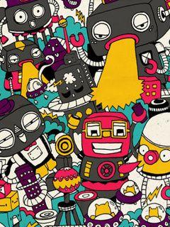 Download 7100 Wallpaper Android Doodle Paling Keren