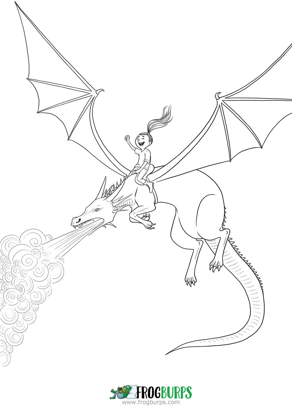 Dragon Rider Coloring Page - youngandtae.com in 2020 ...
