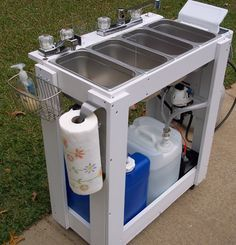 Build A Commercial Sink Unit With Images Food Trailer Food