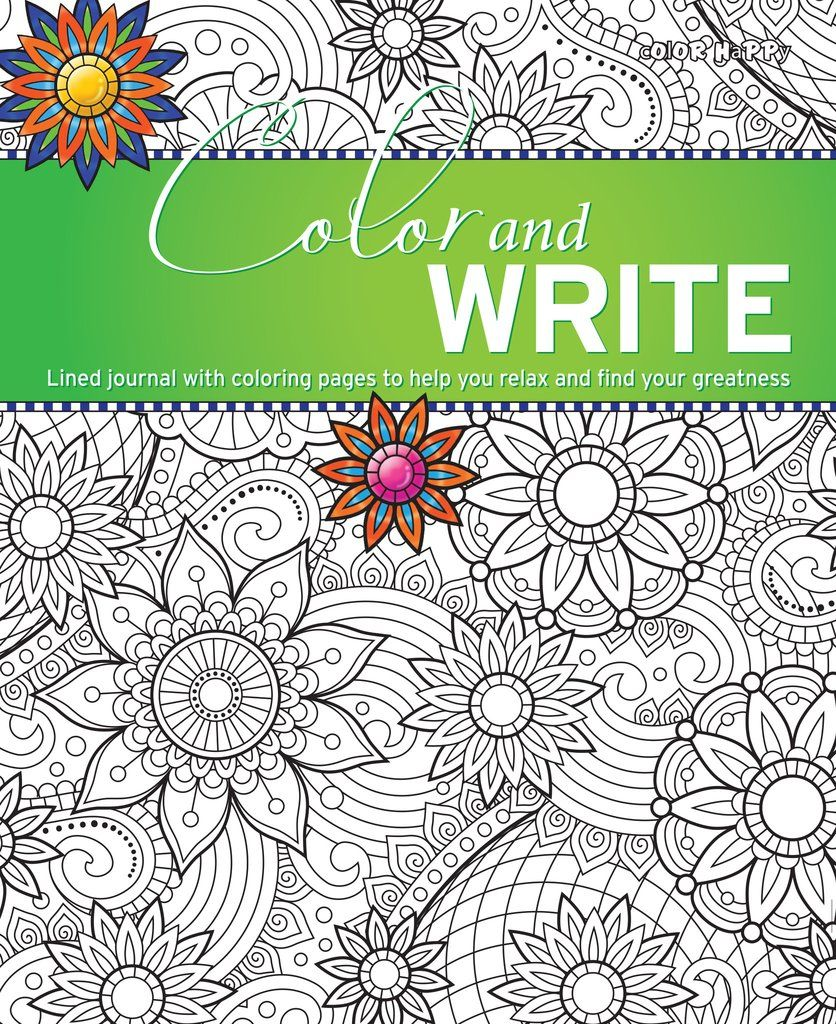 FREE! Color Happy\'s own Design – Color and Write: A Lined Journal ...