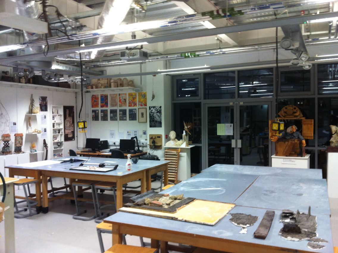 The Ceramics And Sculpture Studio QE Sixth Form College Leicester Course Tutor Mark Bickerstaff