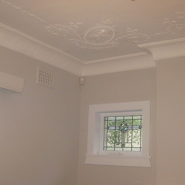 Completed Interior Painting For Clients On The North Shore Sydney Beautiful Ornate Ceilings And Cornices Throug Interior Paint Leadlight Windows Ceiling Decor