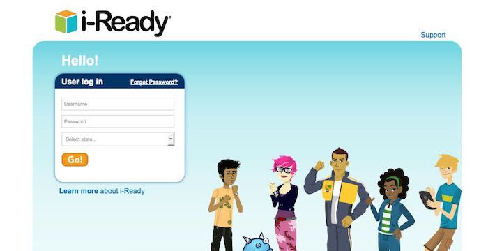 This i Ready student login page is used for access on Login