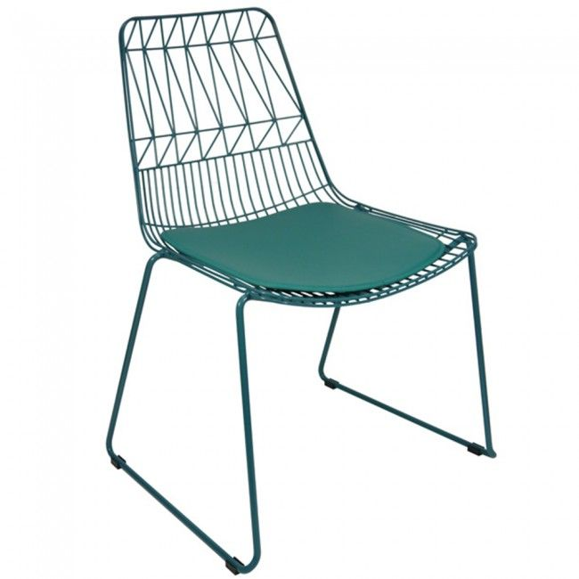 Merveilleux Kirstin Outdoor Chair Bent Wire Stackable Dining Chairs