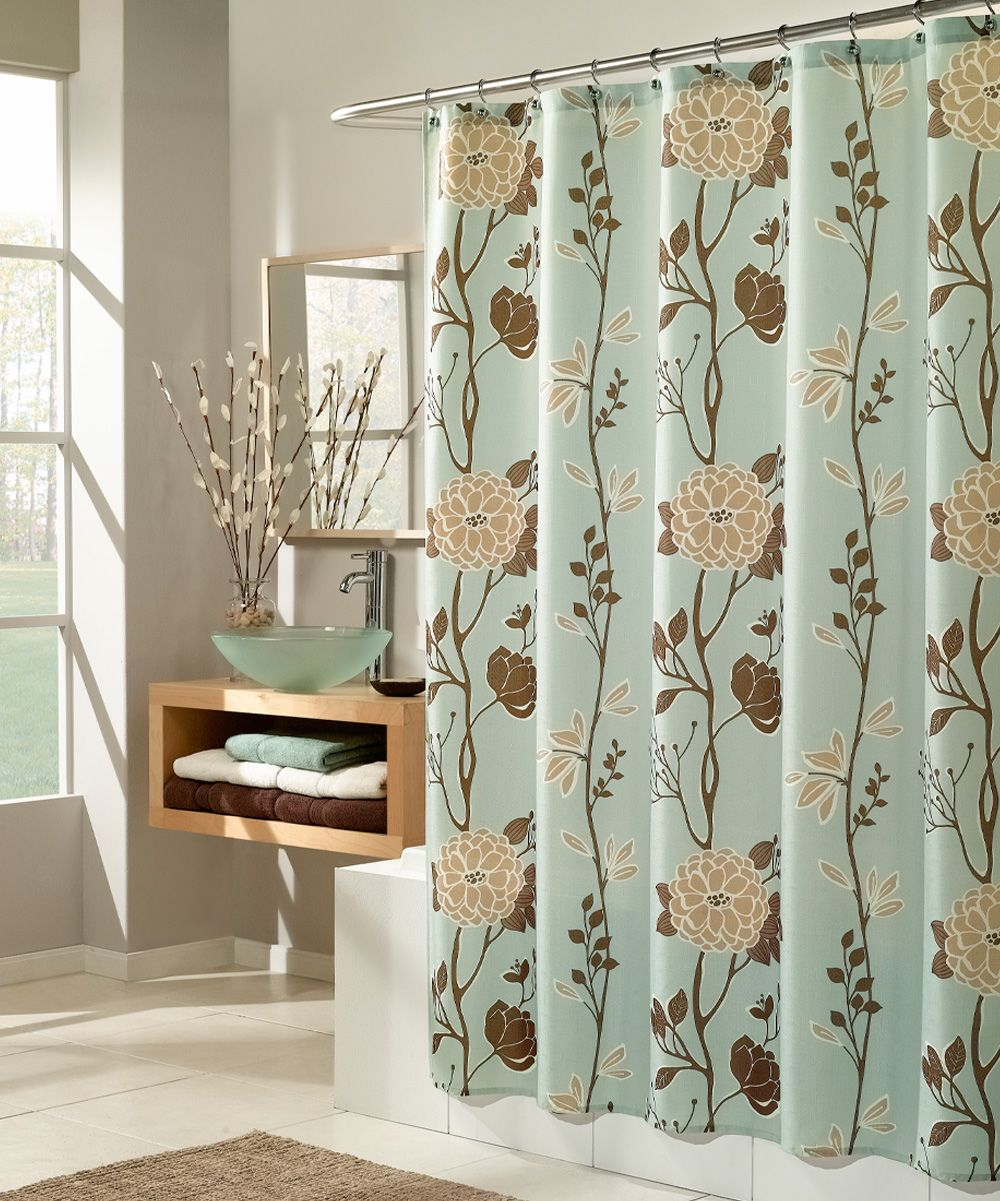 Blue cassandra shower curtain products