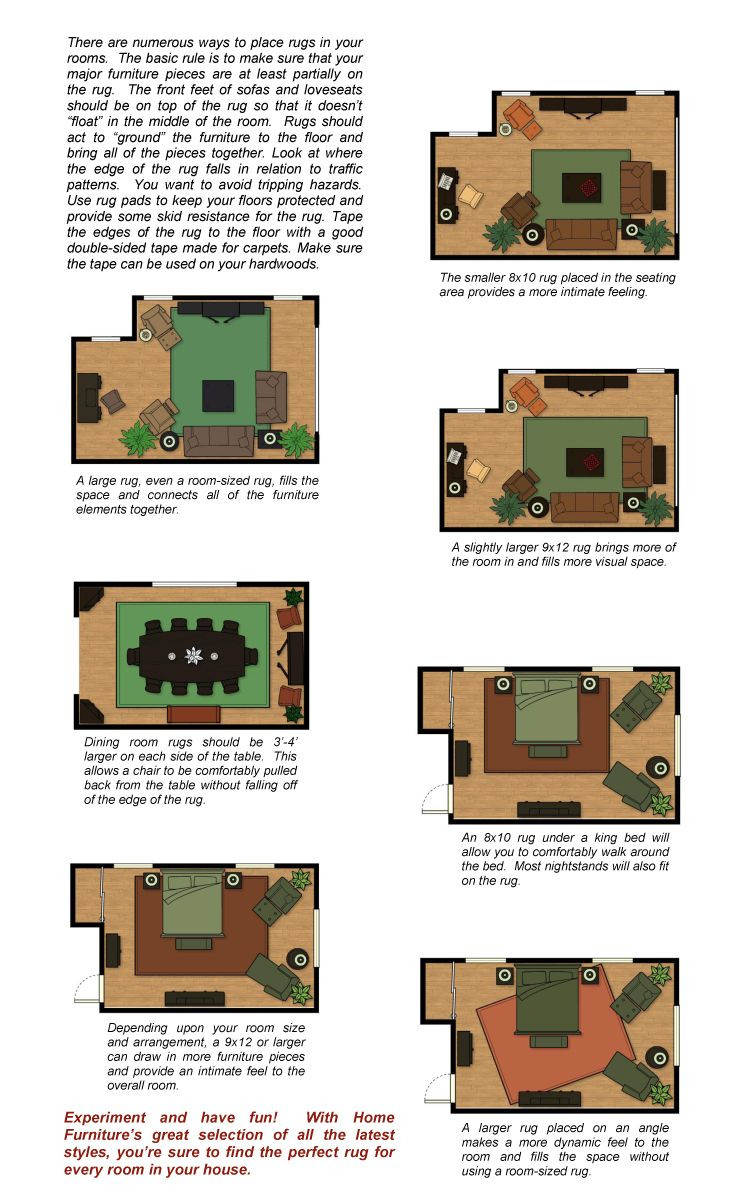 This Website Has Great Tips On Rug Furniture Placement