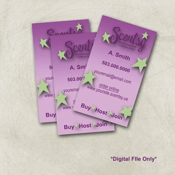 Scentsy Business Card Design