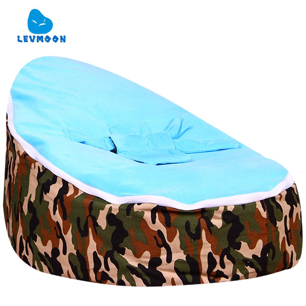 Levmoon Medium Camouflage Beanbags Bean Bag Chair Kids Bed For Sleeping Portable Folding Child Seat Sofa