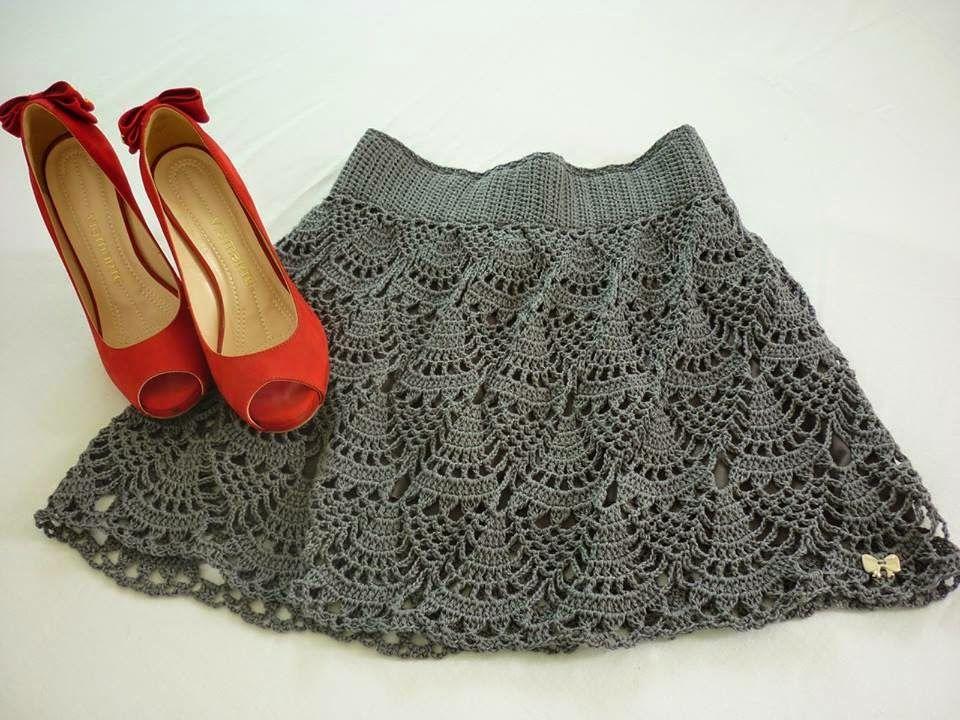 Falda de Crochet con Elastico Patron - Patrones Crochet | DRESS GIRL ...