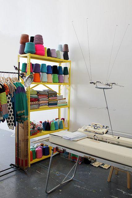 Atelier// New Studio by ALL Knitwear Leuk atelier!