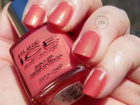 Pure Ice Twinkle Review - #pureice #twinkle #nailreview #nailpolish #polish #coralpolish