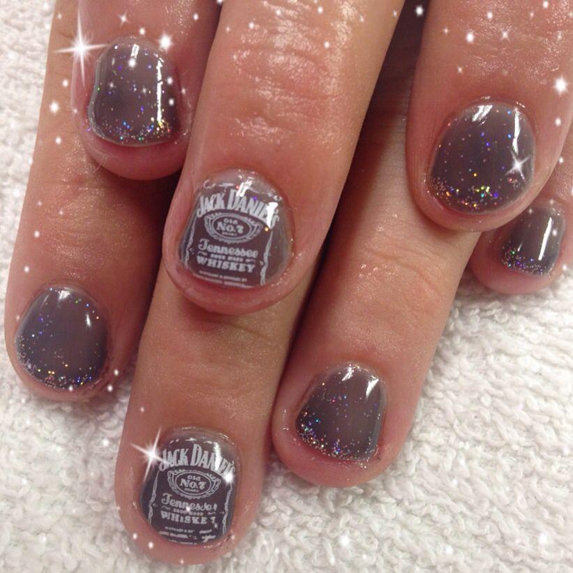 Jack Daniels   Logo inspired nails by me   Pinterest   Jack daniels