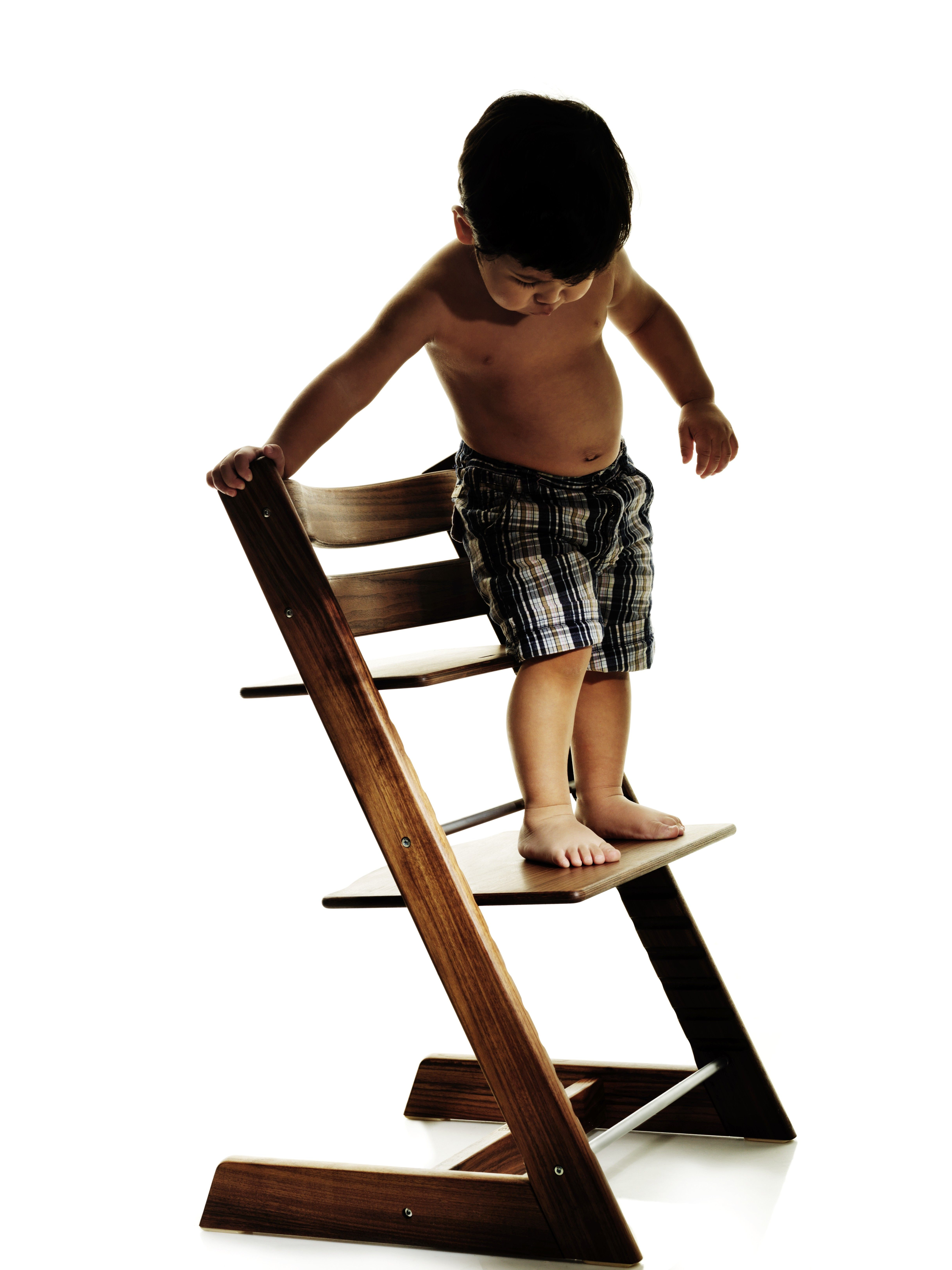 Stokke high chair blue - Elegant Tripp Trapp Made From Solid American Walnut With Oiled Finish A Family Heirloom In