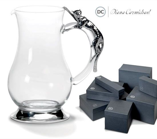 Business Gifts Collection: Diana Charmichael Cheetah Collection Glass Jug