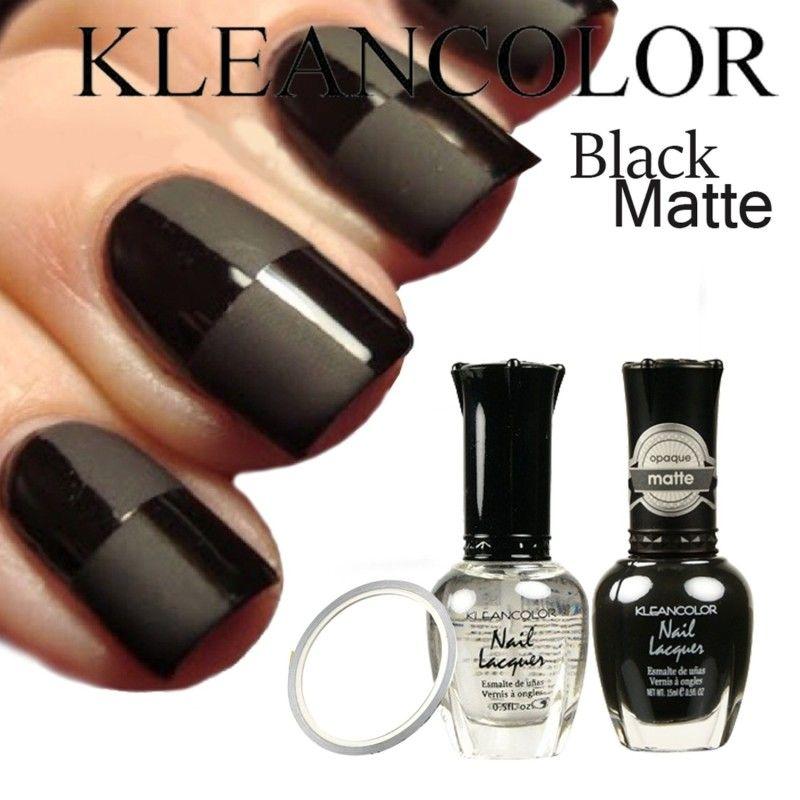 Beauty Matte Black Nail Polish   Elegant Matte Black Nail Polish ...