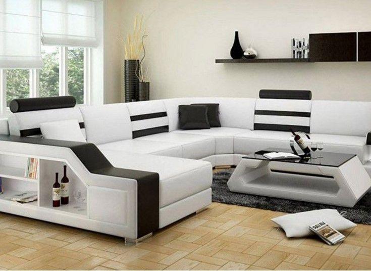 Tessie - U - Leather Sofa Lounge Set   Lounge sofa, Sofa ...