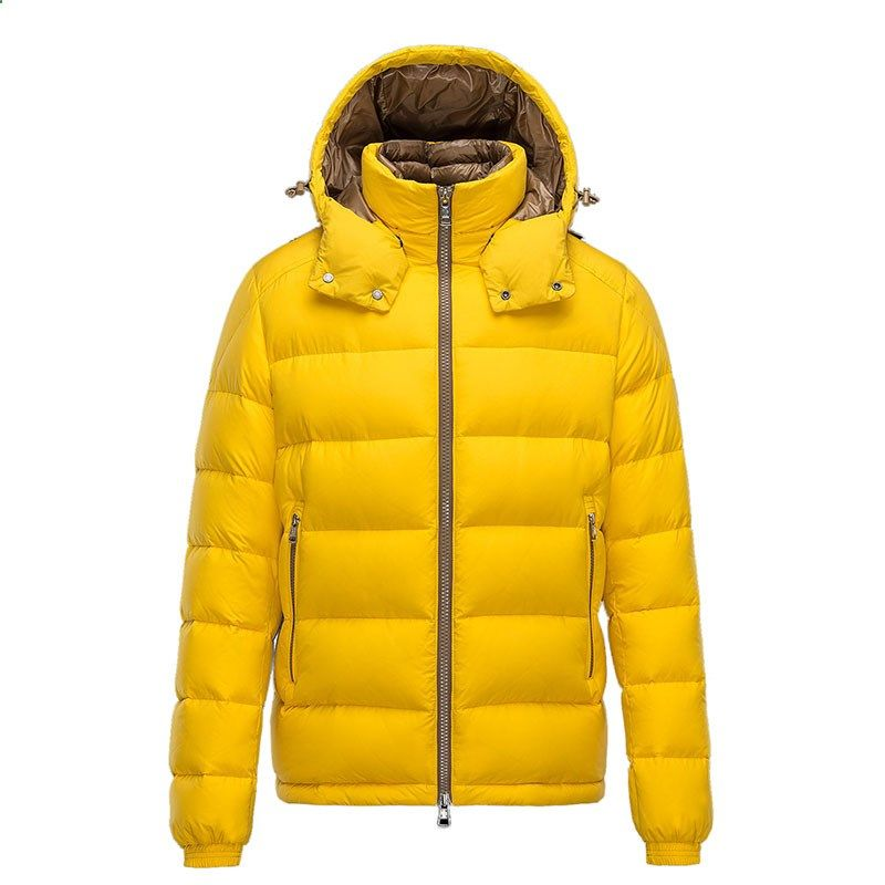 Men Moncler Yellow Brique Lightweight Padded Jacket