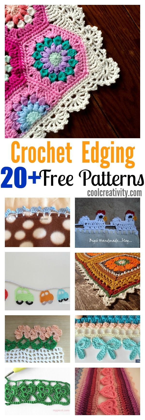 20 + Crochet Free Edging Patterns You Should Know | Pinterest ...