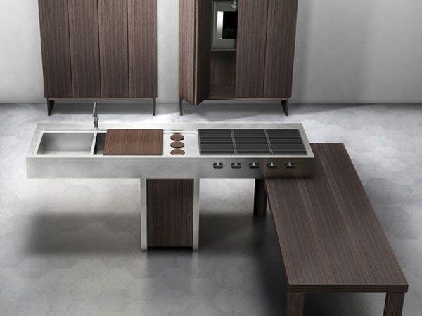 lando piano cucina acciaio | Kitchens | Pinterest | Acciaio ...