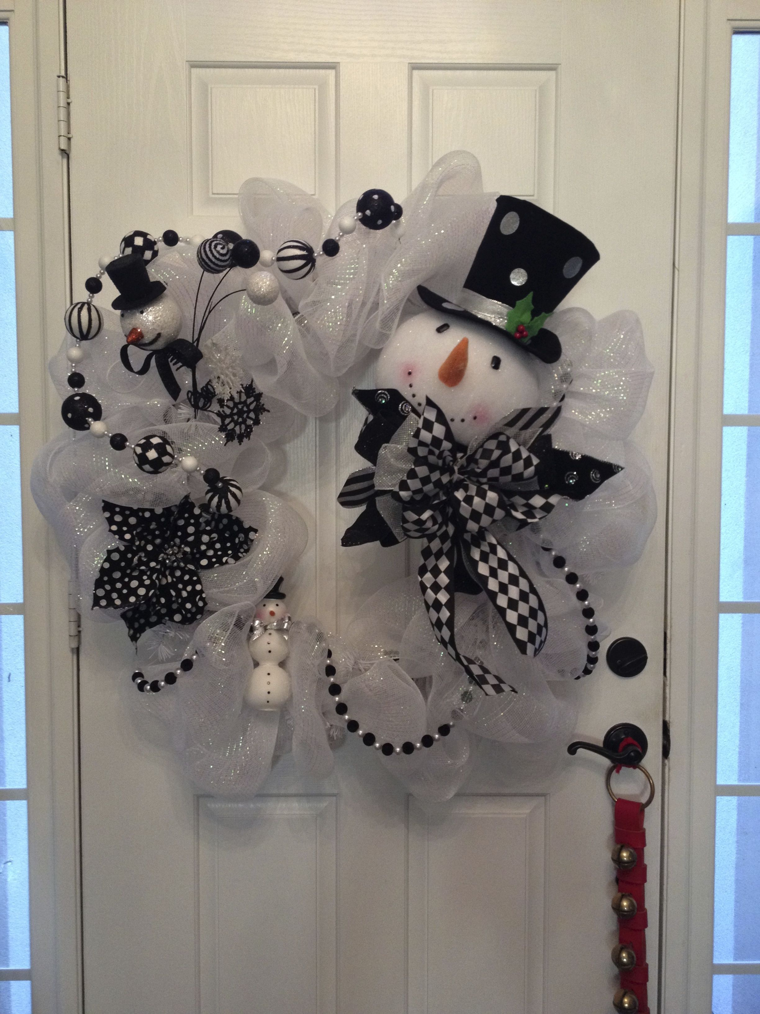 Snowman Wreath 2013 Christmas mesh wreaths, Xmas