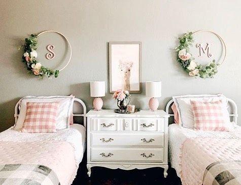 Girls Sheared Bedroom Reveal Kids Shared Bedroom Twin Girl Bedrooms Shared Girls Bedroom
