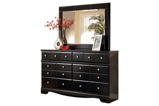 black shay dresser and mirror by ashley furniture products rh pinterest com