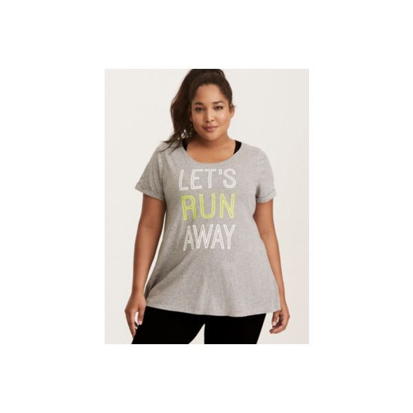 fef899b7fbe03 Torrid Let s Run Away Rolled Sleeve Tee ( 28) ❤ liked on Polyvore featuring  activewear