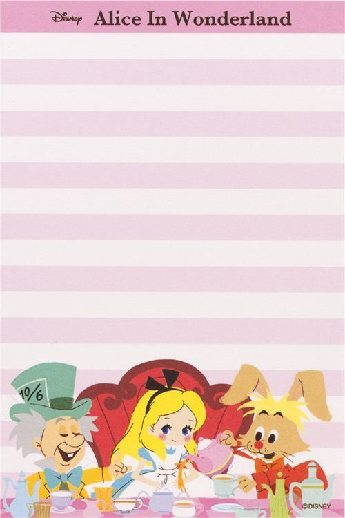 Alice in Wonderland Memo Pad with cards from Japan