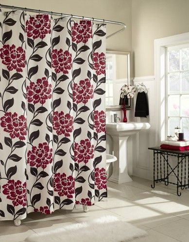 29.99 Curtain & Bath Outlet - Flora Fabric Shower Curtain | Home ...