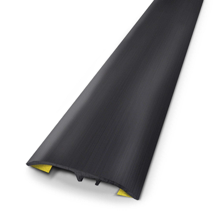 Barre De Seuil Aluminium Anodise Noir L 83 X L 3 7 Cm Sol Pvc Seuil Barre