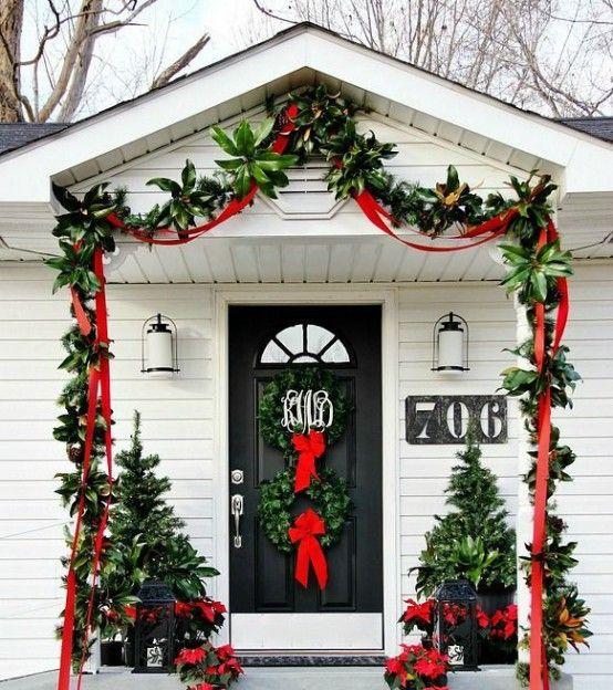 Ideas para decorar la puerta de casa esta navidad - Decorar la casa de navidad ...