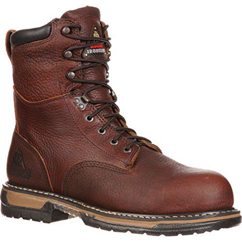 Rocky Mens Iron Clad Eight Inch Work Boot