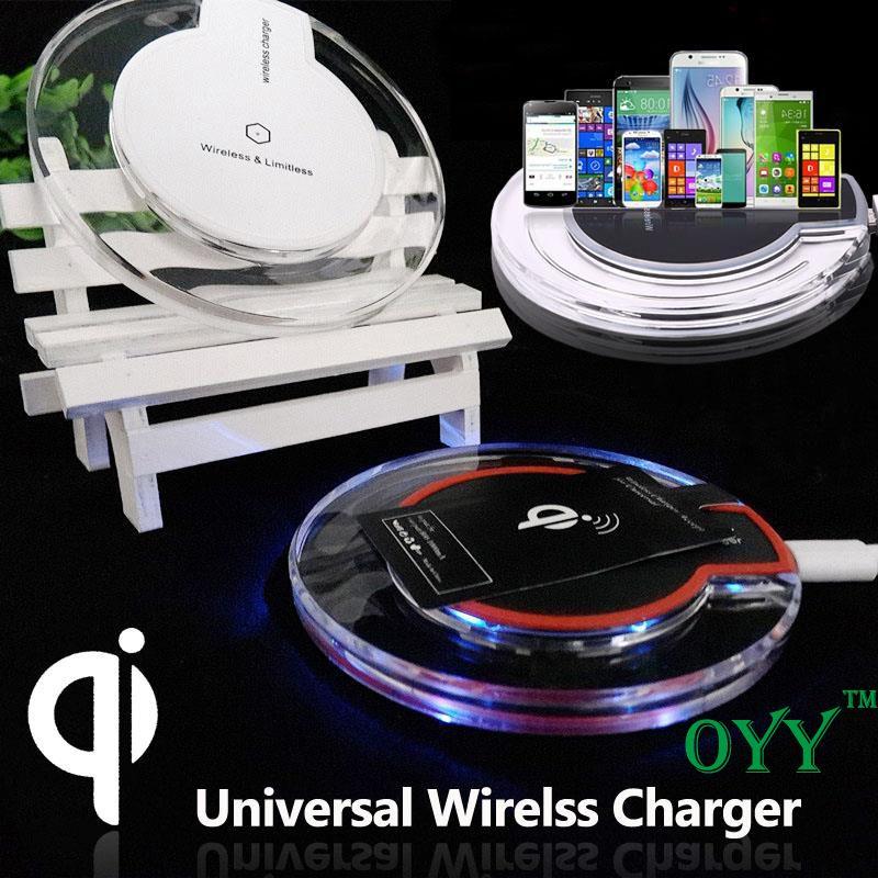 Qi Wireless Charger Crystal Desktop wireless receiver For Asus Zenfone Max ZC550KL  Zenfone 3 ZE552ML