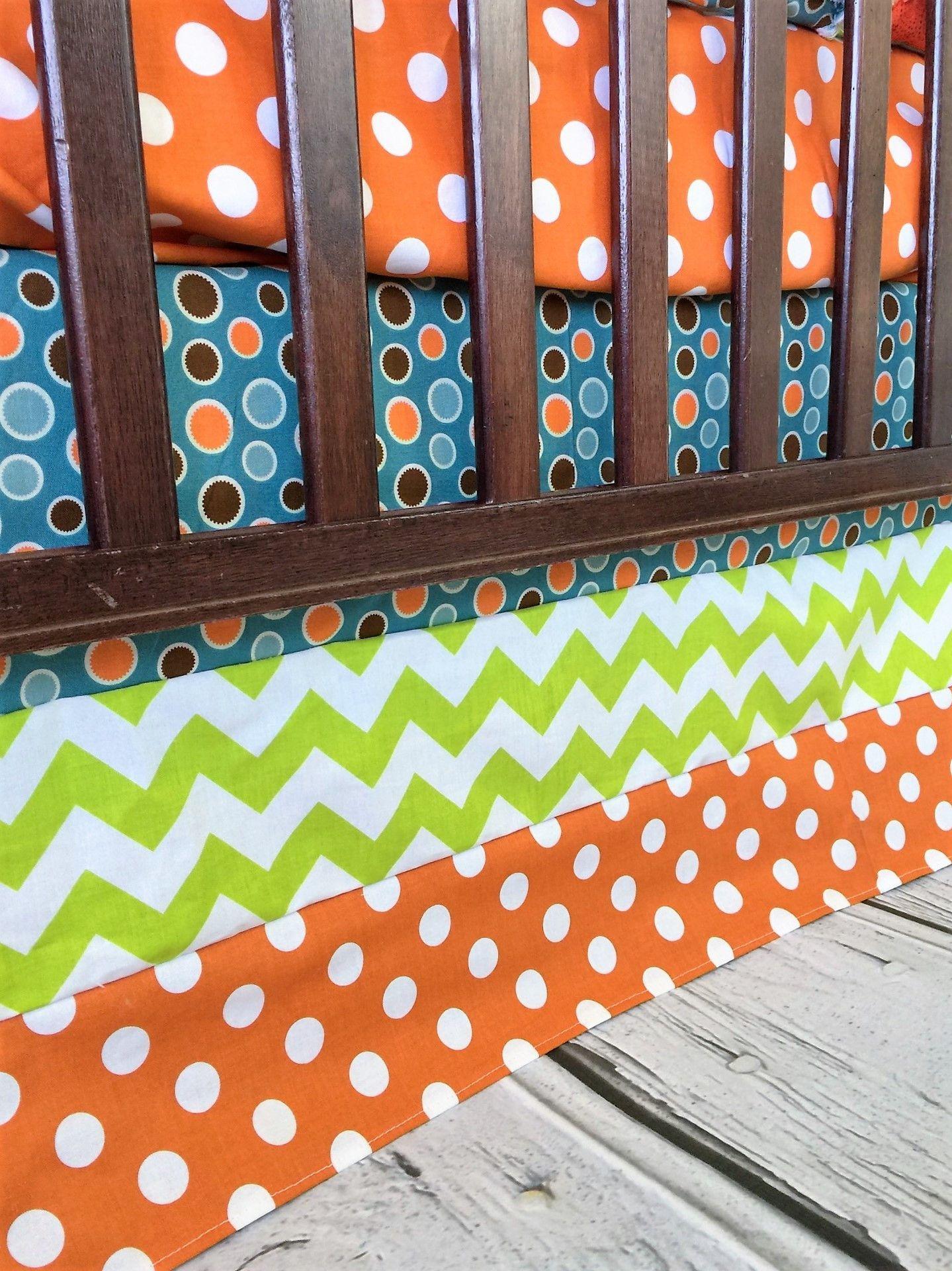 Orange owl crib bedding - Owl Baby Boy Crib Bedding In Orange Blue And Green