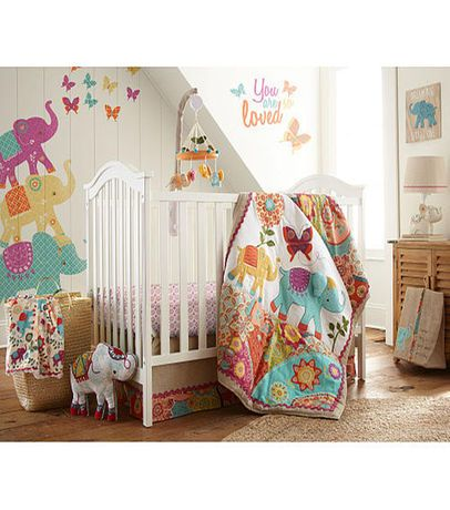 Levtex Baby Zahara 5 Piece Crib Bedding Set Sugar And Spice And
