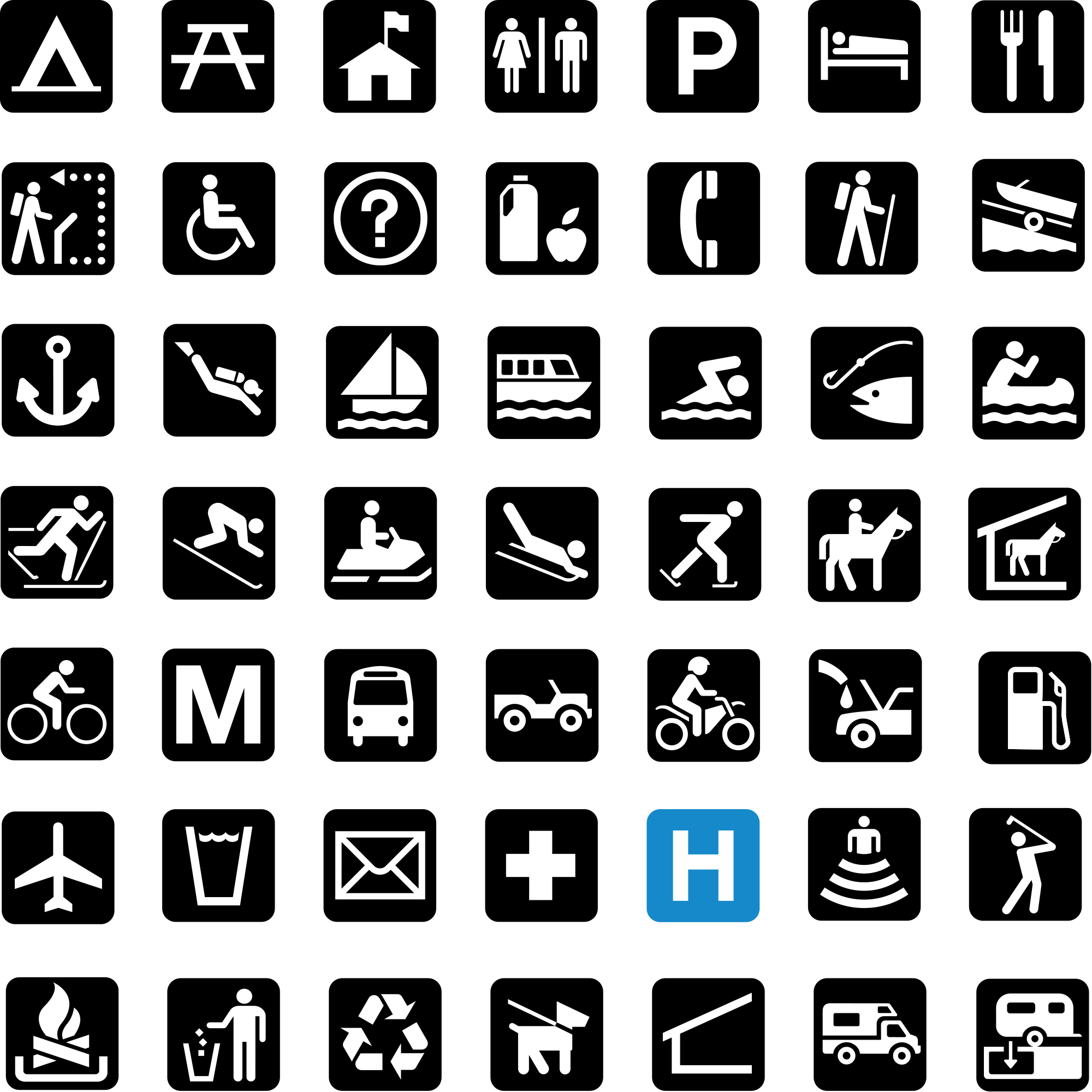A pictogram or pictograph conveys meaning through pictorial standard cartographic symbols and patterns used on national park service maps available as a truetype font buycottarizona Image collections
