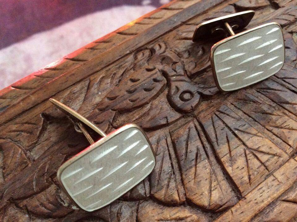 Aksel Holmsen enamel sterling silver cufflinks norwegian