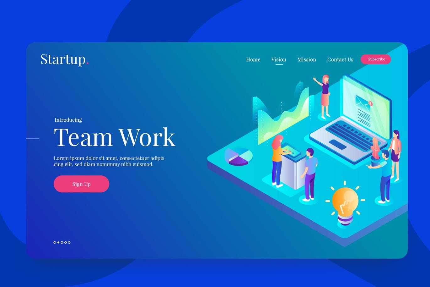 Team Work Vector Illustration AI, EPS  Download | Vector