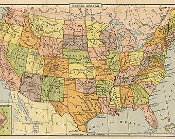 Popular items for usa map on Etsy gifts Pinterest Digital