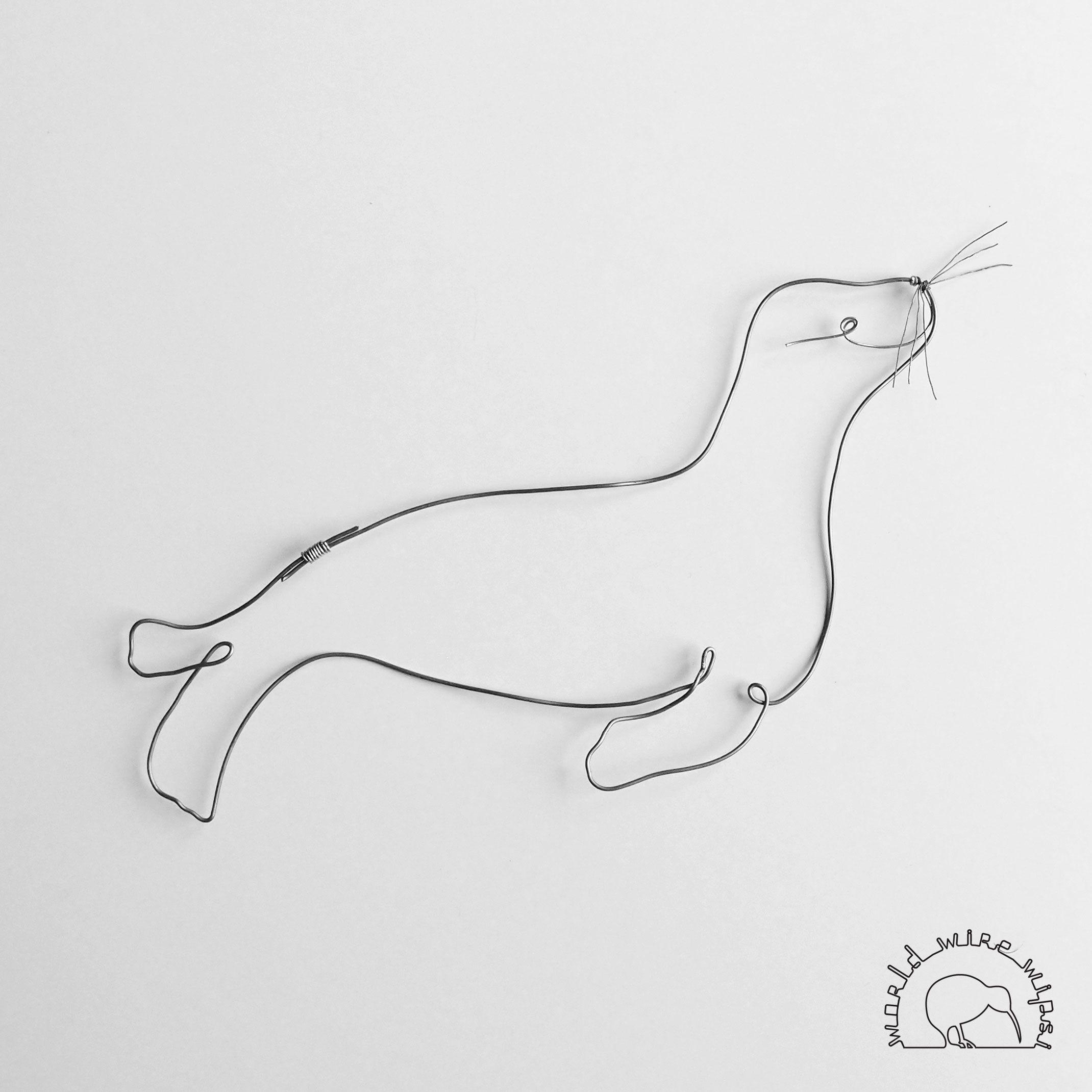 sea lion | wire animals | Pinterest | Wire art, Wire crafts and Wire ...
