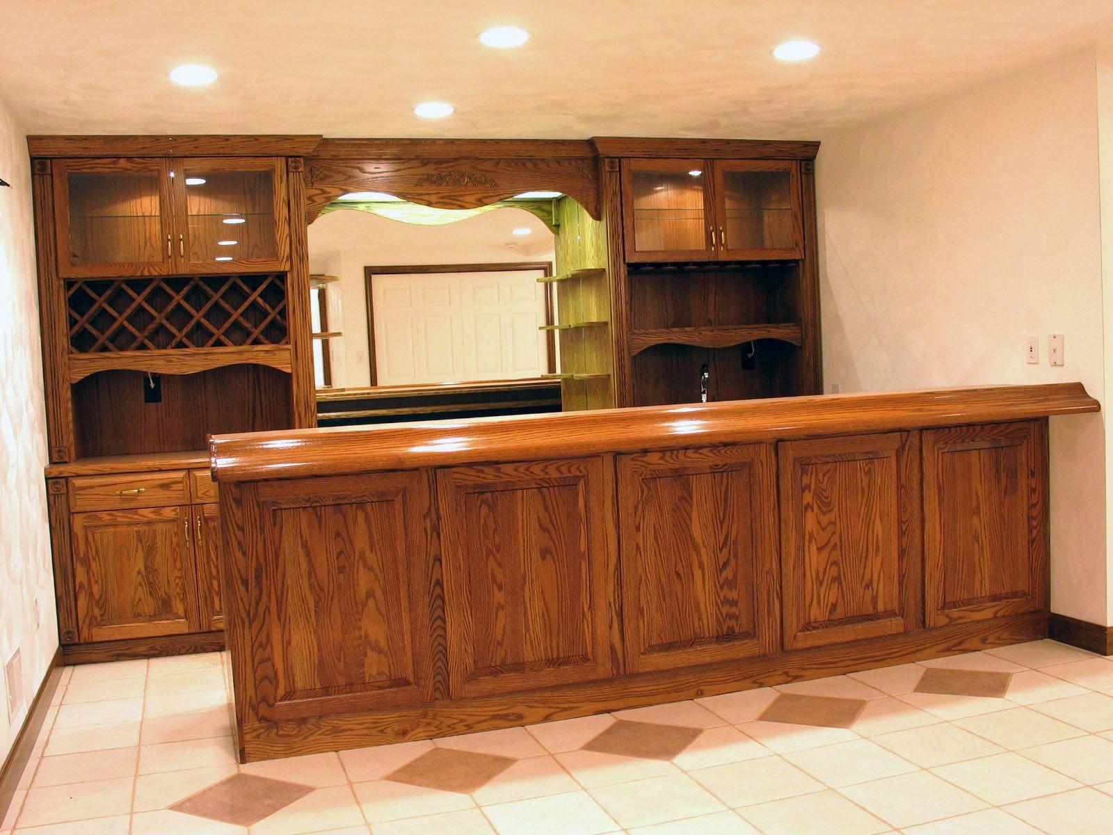 Marvelous Bar Images | Custom Oak Bar Solid Oak Front Rear Bar Sections Custom Oak Bar  Rear