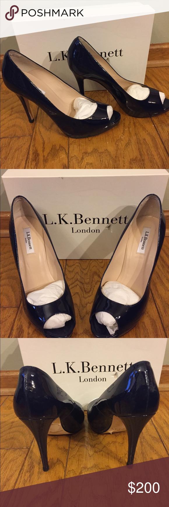 L.K. Bennett Aven Suede Bow Trim Sandals, Black | Party